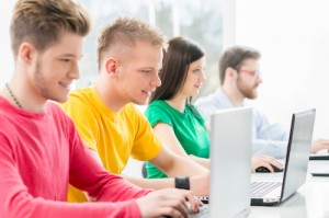 Students-at-the-informatics and programming lesson